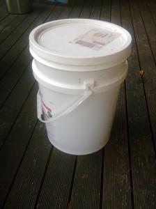 25L round bucket